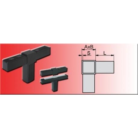 Connecteur en T pour tube 20x20x1.5