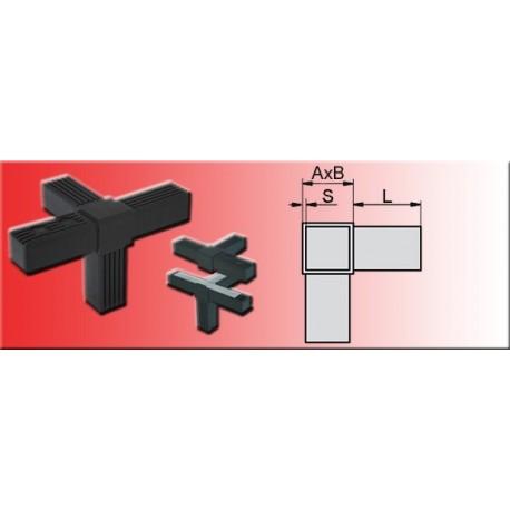 Connecteur en T avec sortie tube 20x20x1.5