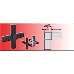 Connecteur en croix pour tube 30x30x2