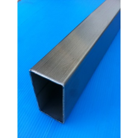 TUBE INOX RECTANGLE 80 X 40 X 2 QUALITE DECO 304L