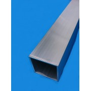 TUBE ALUMINIUM CARRE 25 X 25 X 2 QUALITE 6060