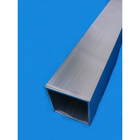 TUBE ALUMINIUM CARRE 60 X 60 X 2 QUALITE 6060