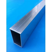 LOT 6x 1 M TUBE ALUMINIUM RECTANGLE 60x30x2